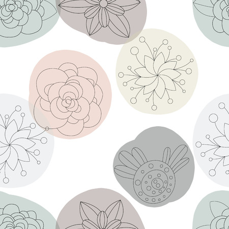 floral decoration: Abstract Elegance Seamless pattern with floral background