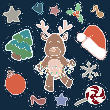 the patch: Christmas patch badges with Deer