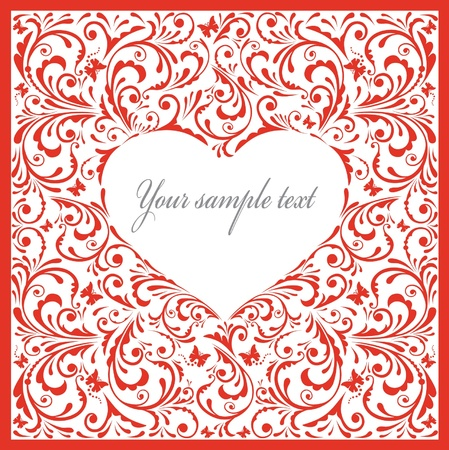 Beautiful card with heart.