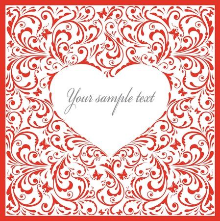 Belle carte avec le coeur.