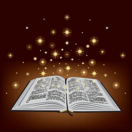 영광: 성경. 신약, 구약 성경. 책입니다. 일러스트