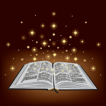 Holy Bible. New Testament, Old Testament. Open book. Vector