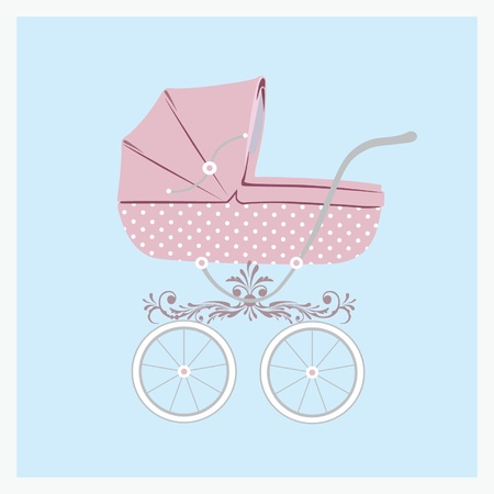 Baby carriage.  Vector illustration eps.10.  Stock Vector - 12042700
