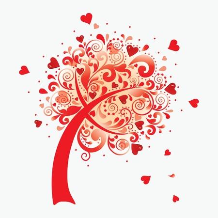 illustration d'un arbre d'amour. Illustration