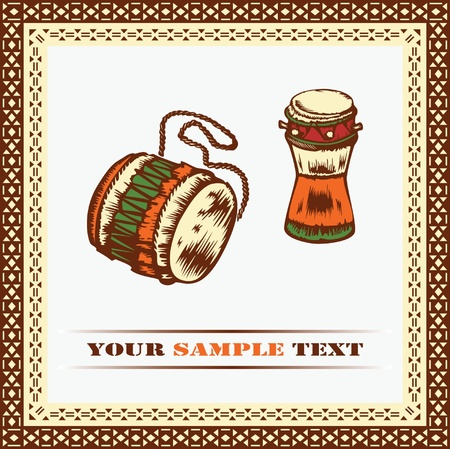 bongo drum: African drums.  Illustration