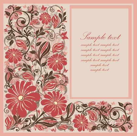 Flower card design.