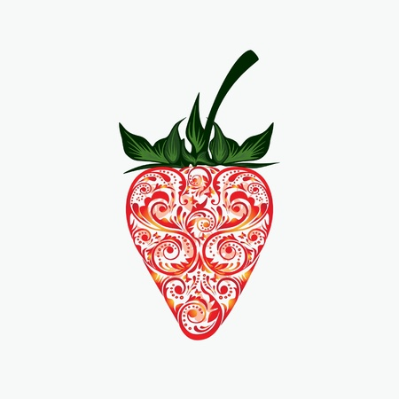 Strawberry. Vector