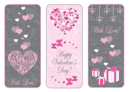 Valentine day web banner set.