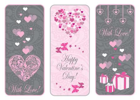 Valentine day web banner set. Vector