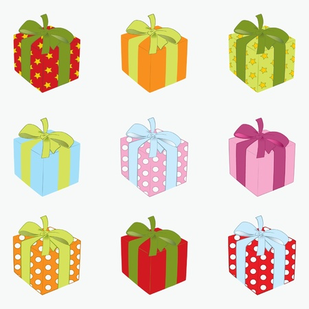 Set of gift box  Vector illustration eps 10
