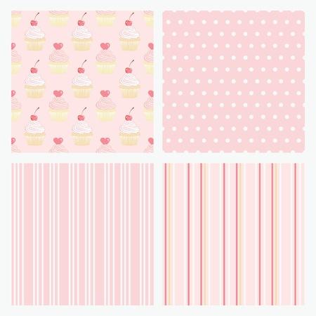 tierno: Ajuste de color rosa de fondo sin fisuras de confiter�a