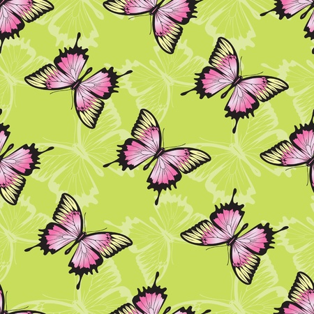 Vector seamless texture with butterflies   Vector