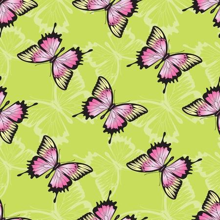 Vector seamless texture with butterflies Stock Vector - 12792067