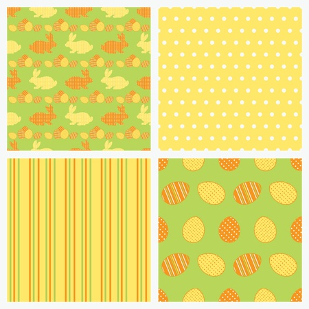 Set of seamless Easter paper   Stock Vector - 13058231