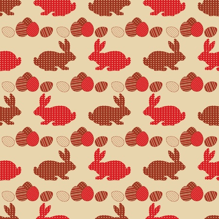 Vintage seamless Easter vector background   Vector