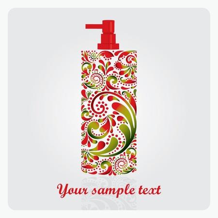 fragrance: Fles lotion, gemaakt van het blad patroon EPS 10