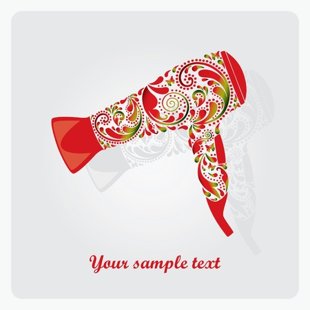 Hairdryer made from leaf pattern  EPS 10    Vector