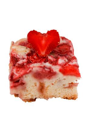 Tarte aux fraises sur un fond blanc objet isol�