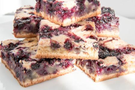 Homemade blueberry pie. Stock Photo