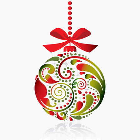 isolated object: Christmas print. Christmas toy. Isolated object. Illustration