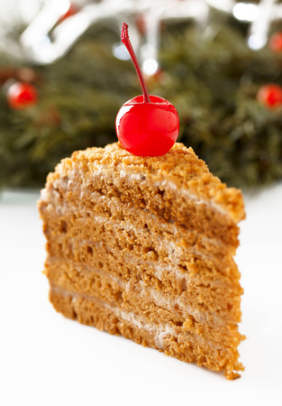 honey cake: Homemade honey cake.