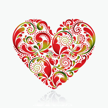 Beautiful heart on a white background.