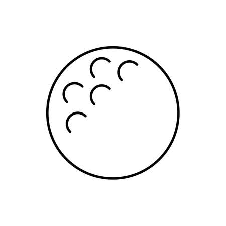 vector golf ball symbol outline style