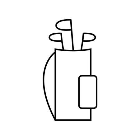 golf clubs bag symbol outline style