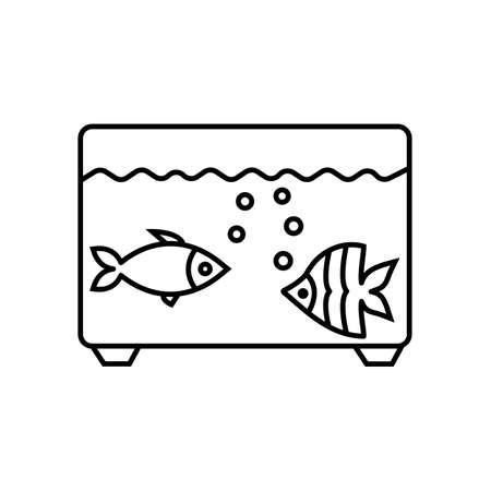Aquarium and fish vector icon Vettoriali