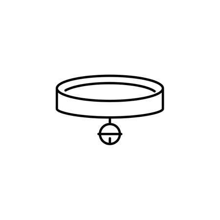 collar icon element of vet icon for mobile concept and web apps. Thin line collar icon can be used for web and mobile. Premium icon on white background. Stock Illustratie