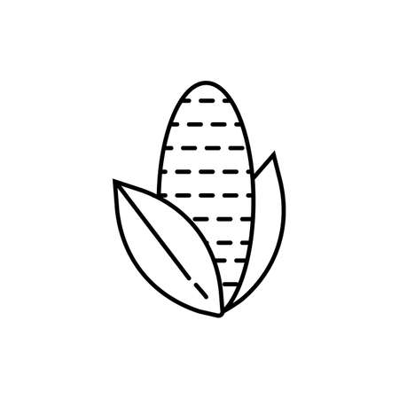 corn icon element of vegetables icon for mobile concept and web apps. Thin line corn icon can be used for web and mobile. Premium icon on white background.
