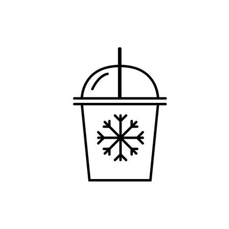 Iced coffee icon element of coffe icon for mobile concept and web apps. Thin line iced coffee icon can be used for web and mobile. Premium icon on white background.