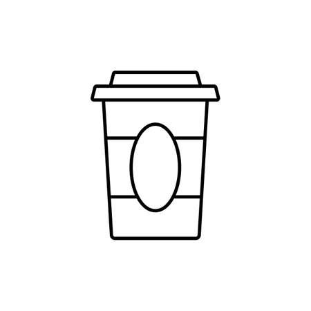Coffee paper cup icon element of coffe icon for mobile concept and web apps. Thin line coffee paper cup icon can be used for web and mobile. Premium icon on white background.