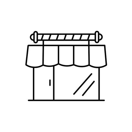 barbershop icon element of barbershop icon for mobile concept and web apps. Thin line barbershop icon can be used for web and mobile. Premium icon on white background.