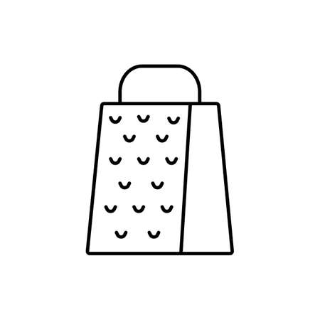 grater icon element of kitchen icon for mobile concept and web apps. Thin line grater icon can be used for web and mobile. Premium icon on white background. 向量圖像