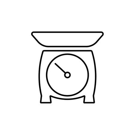 Kitchen scales icon element of kitchen icon for mobile concept and web apps. Thin line kitchen scales icon can be used for web and mobile. Premium icon on white background.
