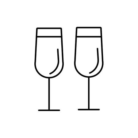 champange flutes icon element of kitchen icon for mobile concept and web apps. Premium icon on white background.