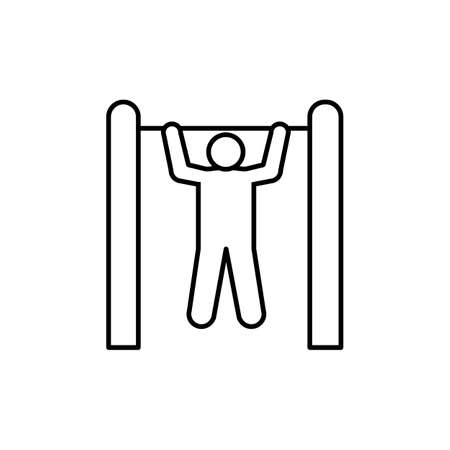 pull-ups icon element of fitness icon for mobile concept and web apps.  Premium icon on white background. Ilustração