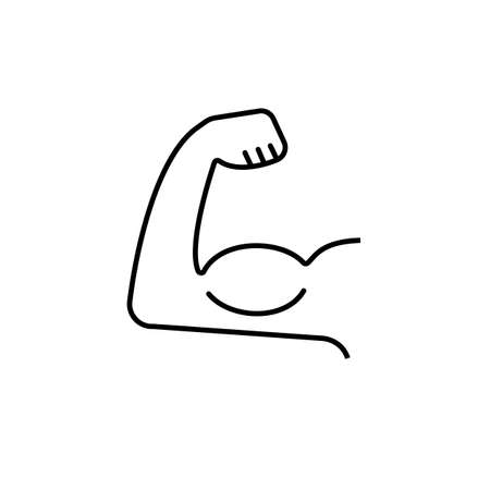 biceps icon element of fitness icon for mobile concept and web apps. Premium icon on white background.
