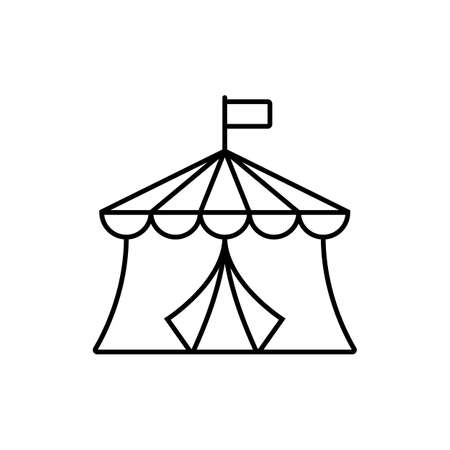 circus icon element of building icon for mobile concept and web apps. Thin linecircus icon can be used for web and mobile. Premium icon on white background.