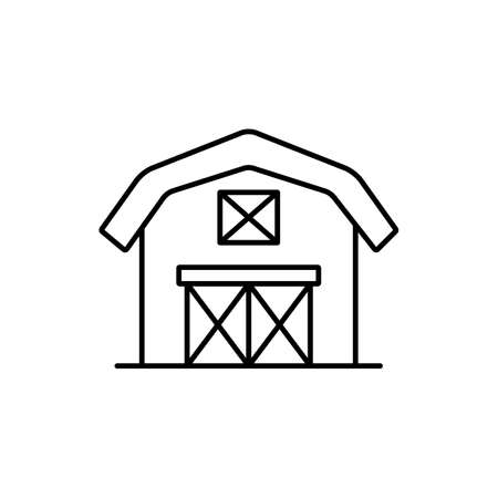barn icon element of building icon for mobile concept and web apps. Thin line barn icon can be used for web and mobile. Premium icon on white background.