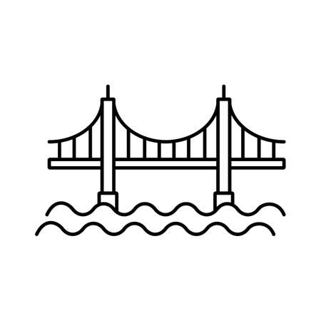 bridge icon element of building icon for mobile concept and web apps.  Premium icon on white background.