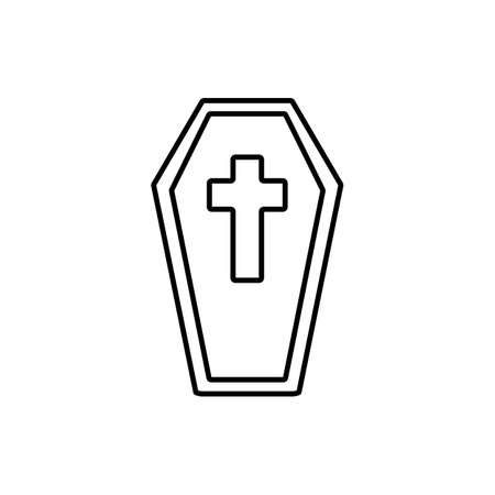 coffin icon element of halloween icon for mobile concept and web apps.  Premium icon on white background.