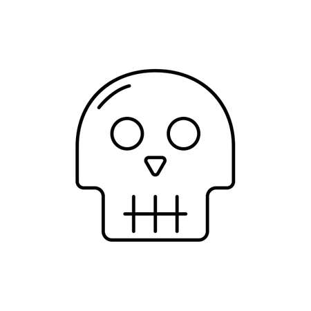 skull icon element of halloween icon for mobile concept and web apps. Thin line skull icon can be used for web and mobile. Premium icon on white background. Vector Illustration