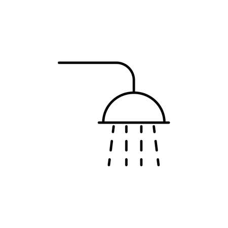 shower icon element of bathhouse icon for mobile concept and web apps. Thin line shower icon can be used for web and mobile. Premium icon on white background.