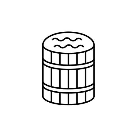 sauna barrel icon element of bathhouse icon for mobile concept and web apps. Thin line sauna barrel icon can be used for web and mobile. Premium icon on white background. 向量圖像
