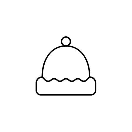 sauna hat icon element of bathhouse icon for mobile concept and web apps. Thin line sauna hat icon can be used for web and mobile. Premium icon on white background.