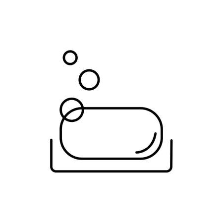 soap icon element of bathhouse icon for mobile concept and web apps. Thin line soap icon can be used for web and mobile. Premium icon on white background. 向量圖像