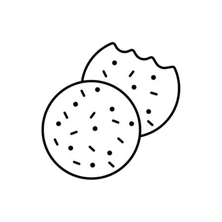 cookies icon element of bakery icon for mobile concept and web apps. Thin line cookies icon can be used for web and mobile. Premium icon on white background Ilustração