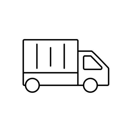 lorry icon element of logistics icon for mobile concept and web apps. Thin line lorry icon can be used for web and mobile. Premium icon on white background